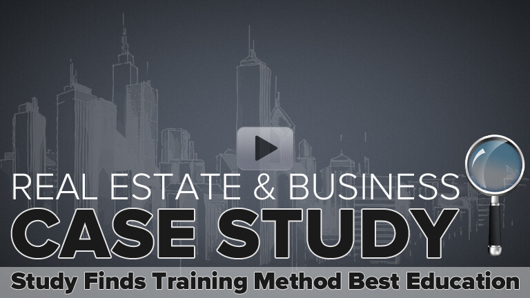 Watch video how Real Estate & Business Case Studies are the Most Effective Education for Entrepreneurs and Investors