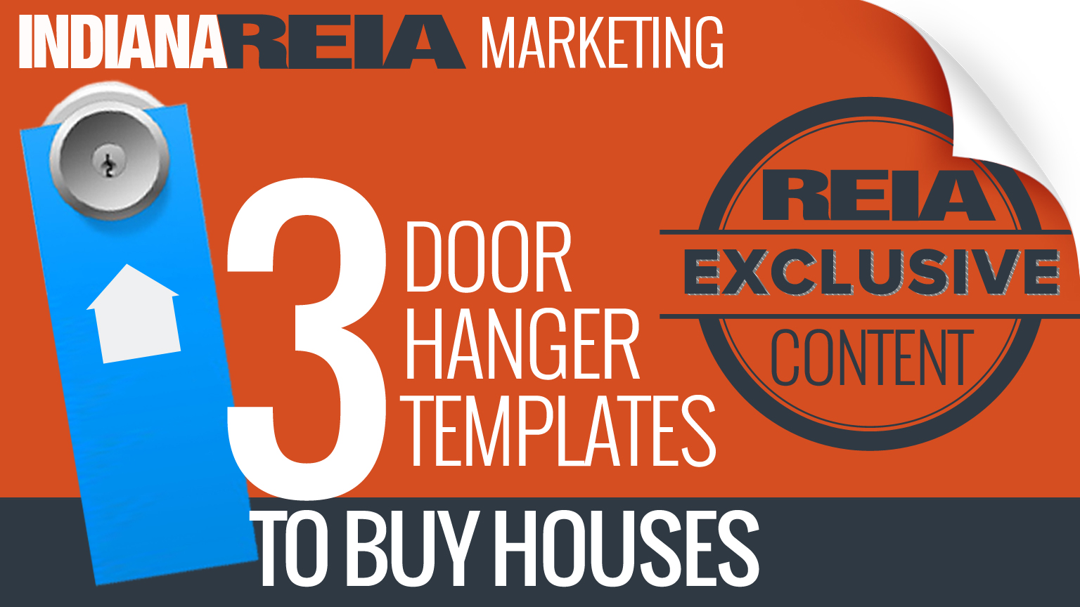 Door Hanger Templates to Buy Houses to Flip or Income Property to Hold Long-term Cash-flow