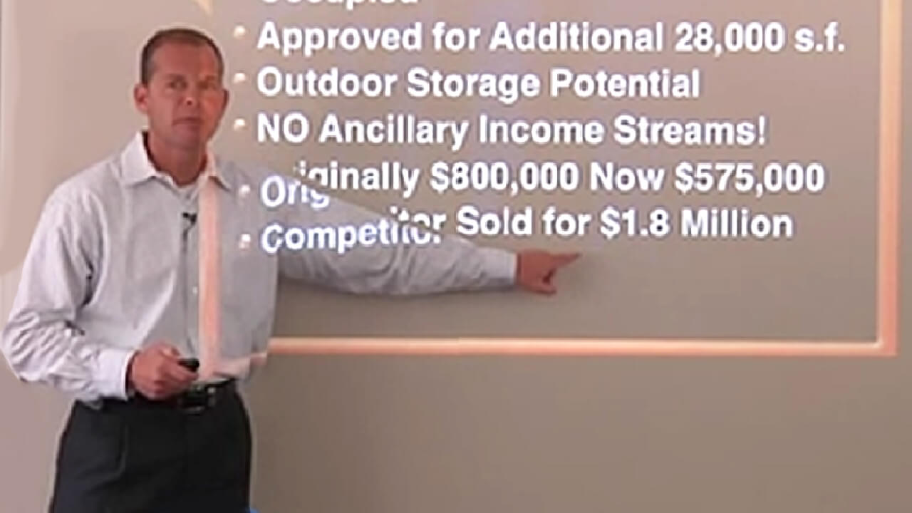 Private investor workshop exact strategies due diligence and the tools simplify & maximize a self storage property.